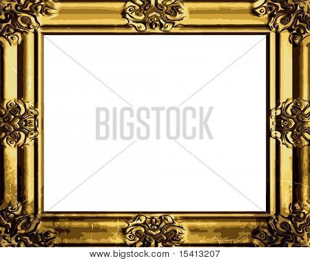 Vector Decorative Antique Gold Frame, See Jpeg Also In My Portfolio
