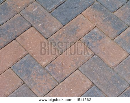 Zig Zag Brick Paving (Close-Up)