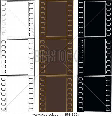 Vector Filmstrips Set