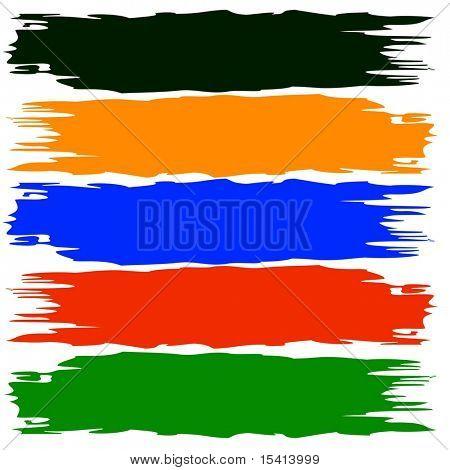 Vector Color Brushstrokes Easily Editable