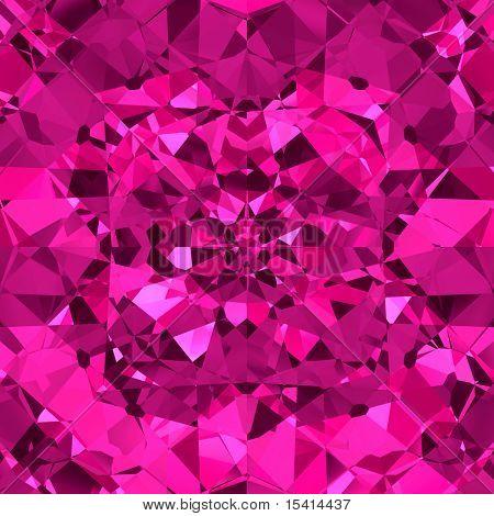 Pink Sparkling Diamonds Seamless Background
