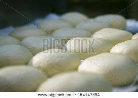 Preparation Of Donuts. Formed Dough
