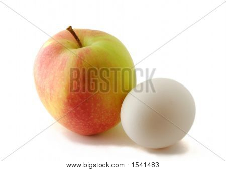 Red Green Apple And Egg