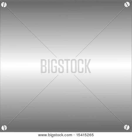 Vector Metal Plate With Screws