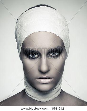 Fashion Model Beauty Shot