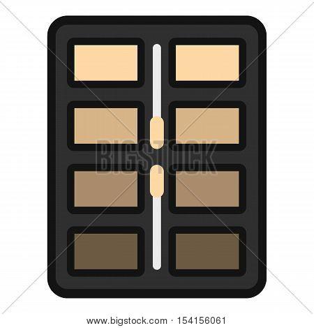 Great palette eye shadow icon. Flat illustration of great palette eye shadow vector icon for web