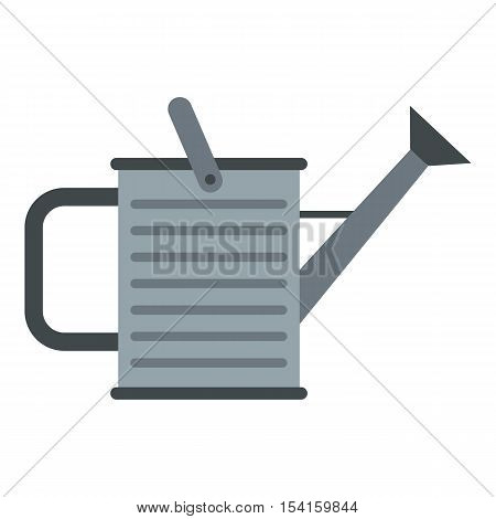 Garden watering can icon. Flat illustration of garden watering can vector icon for web