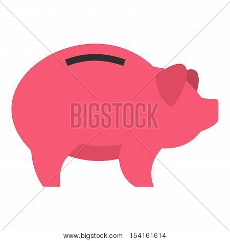 Piggy icon. Flat illustration of piggy vector icon for web