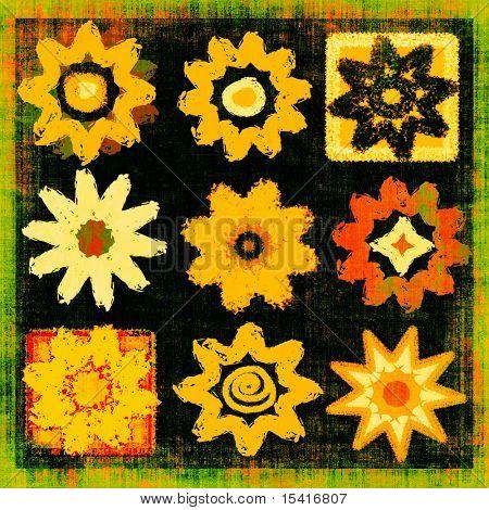 Grunge Flower Power Set