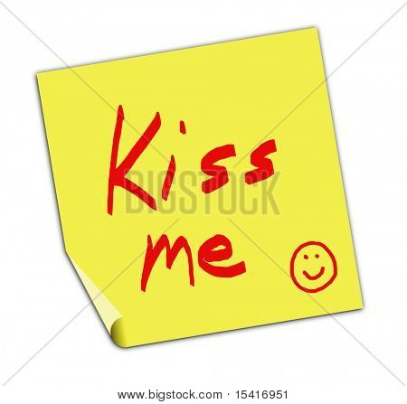 Kiss Me Post It Note