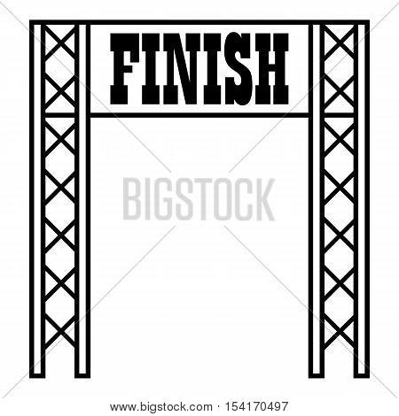 Gates racing finish icon. Outline illustration of gates racing finish vector icon for web