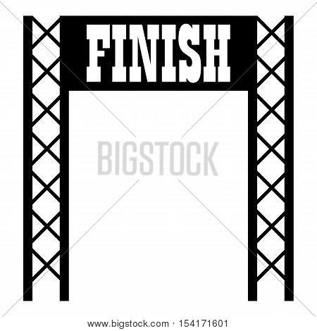 Gates racing finish icon. Simple illustration of gates racing finish vector icon for web
