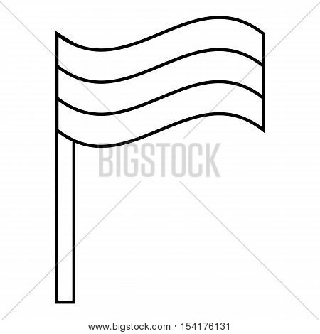 Flag rastaman icon. Outline illustration of flag rastaman vector icon for web