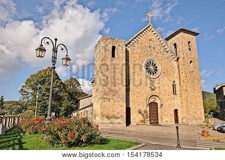 Bolsena, Viterbo, Lazio, Italy: medieval catholic church of San Salvatore in the ancient lakeside town
