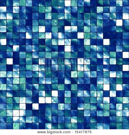 XL Seamless Blue Tiles Background