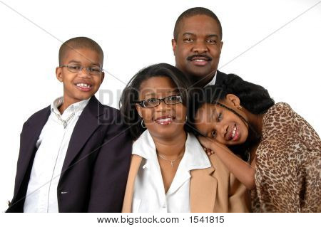 Family In Formal Attire