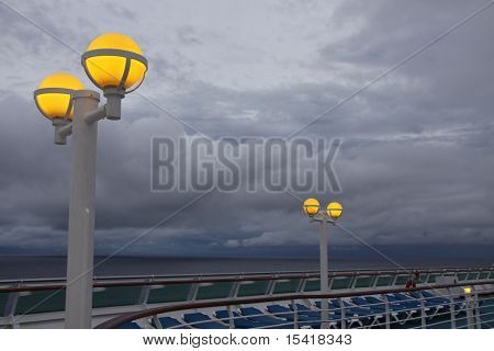 Dawn Lights On A Cruise Ship