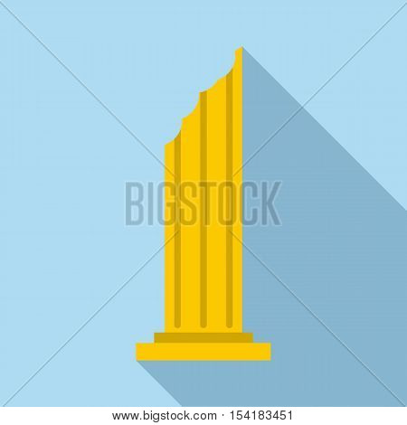 Column icon. Flat illustration of column vector icon for web