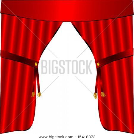 Vector Red Satin Drapes