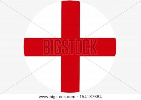 England flag ,Original and simple Republic of The England flag  circle illustration design