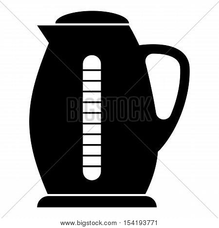 Plastic electric kettle icon. Simple illustration of plastic electric kettle vector icon for web
