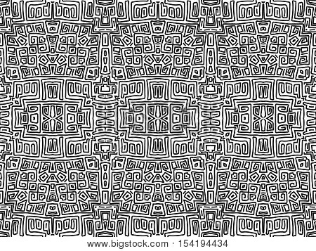 Background Aztec Abstract Maya Shapes Tribal Black White 4