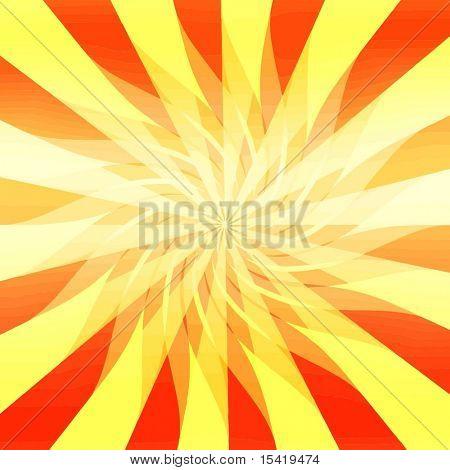 Vector Sunburst Spiral, Also See Jpeg In My Portfolio