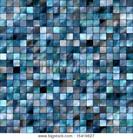 Seamless Blue Tiles Background