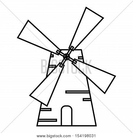 Mill icon. Outline illustration of mill vector icon for web