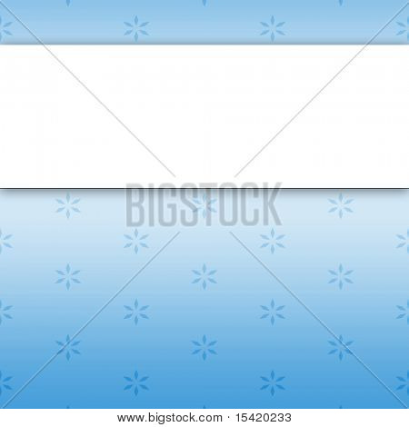 Blank Banner On Floral Paper