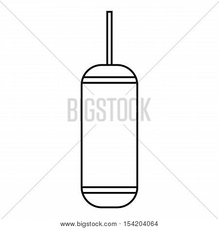 Punching bag icon. Outline illustration of punching bag vector icon for web