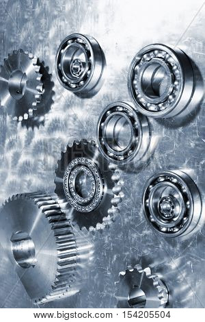 titanium ball-bearings and gears, aerospace engineering parts