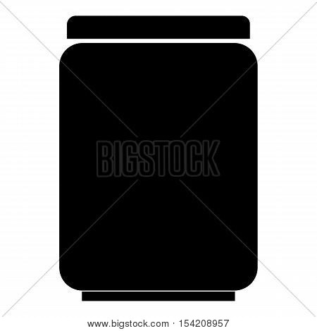 Jar of pills icon. Simple illustration of jar of pills vector icon for web