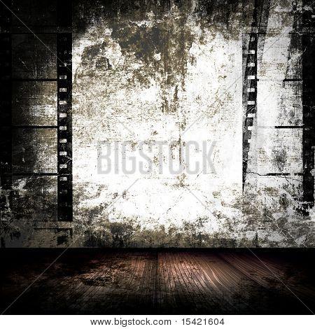 Grunge Room Filmstrips Wall