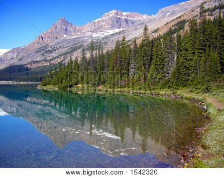 Bow Lake Reflection 2, Banff National Park, Canada