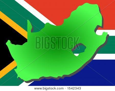 Karte von Südafrika