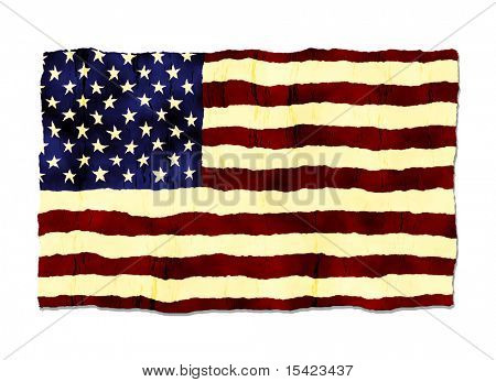 American Flag Old Grunge Style