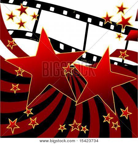 Vetor Film Strip estrelas e listras