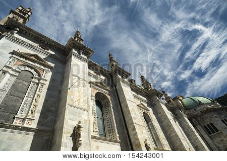 Como (Lombardy Italy): exterior of the cathedral built from the 13th century