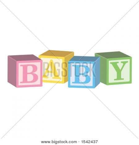 Toy Blocks That Spell Baby