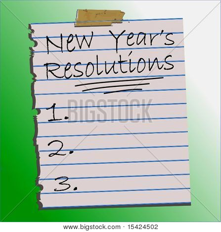 Vektor-New Year's Resolutions Liste