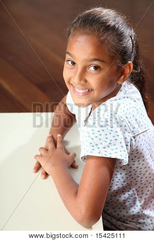 Beautiful smile from school girl