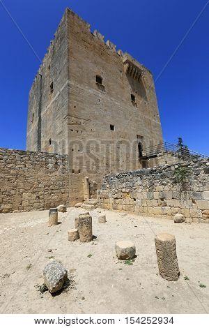 Tower of Kolossi castle near Limassol in Cyprus