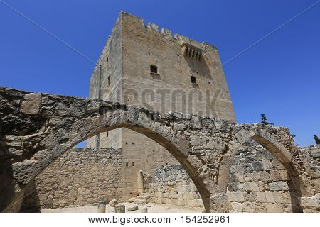 Antique Kolossi castle near Limassol, Cyprus