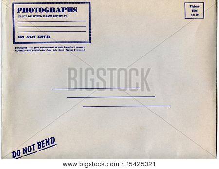 Old Large Photograph Mailer Envelope