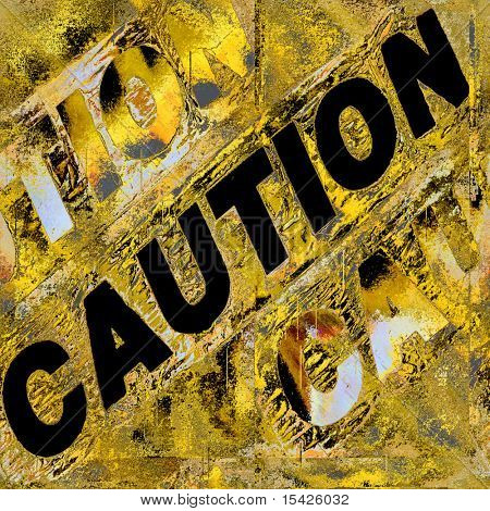 Caution Grunge Wall Seamless Artistic Abstract