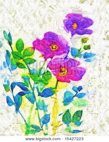 Gemalte Blumen Kunst
