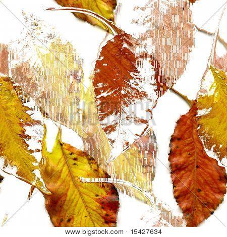 Seamless Autumn Leaves Art Abstract Design
