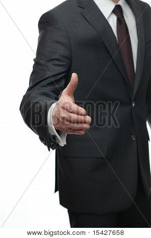 businessman ready to handshake