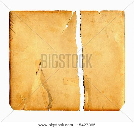 Torn Vintage Real Paper Cardboard